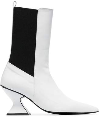 Marques Almeida Marques'almeida leather mid calf boots