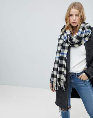 Miss Selfridge Checked Scarf