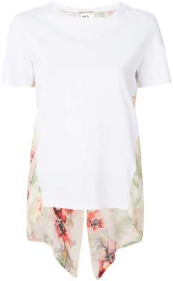 Semi-Couture Semicouture floral panel T-shirt