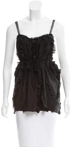 Marc Jacobs Marc Jacobs Silk Sleeveless Ruffled Top