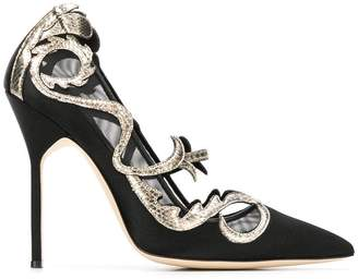 Manolo Blahnik Pitita carved pattern pumps