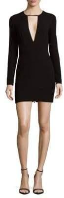 Ronny Kobo Plunging Mini Dress