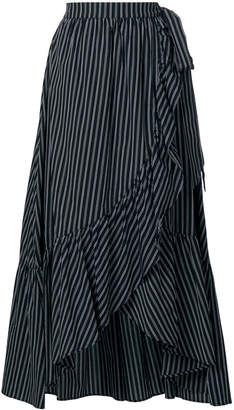 Isa Belle Isabelle Blanche striped asymmetrical skirt