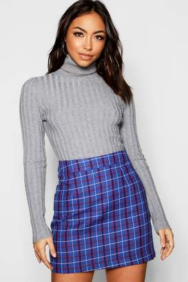 e749cd10da boohoo Woven Tartan Check Mini Skirt