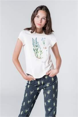 Sonia Rykiel Short-Sleeved Lavender Print T-Shirt