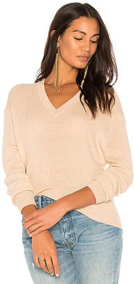 Autumn Cashmere Ribbed Hi Lo Sweater in Beige $264 thestylecure.com