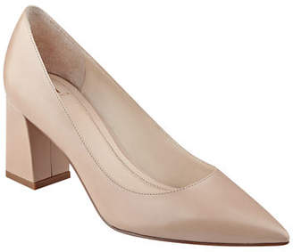 Marc Fisher Zala Smooth Leather Point-Toe Pumps