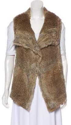 Calypso Shawl Collar Fur Vest