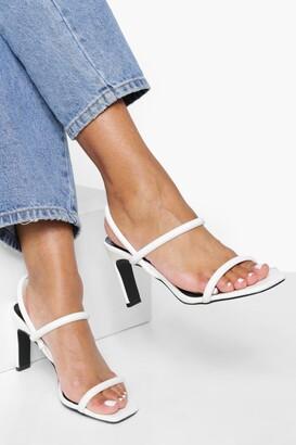 boohoo Flat Low Heel Slingback 2 Part Heels