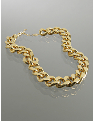 A.V. Max gold twisted chain link necklace