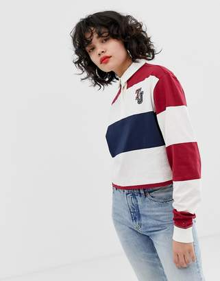 Tommy Jeans classic stripe logo rugby shirt