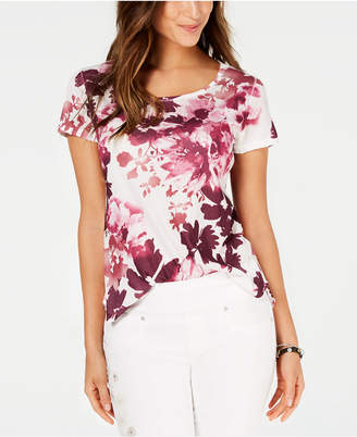 Style&Co. Style & Co Petite Floral-Print T-Shirt
