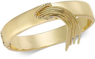 Thalia Sodi Gold-Tone Pavé & Chain Fringe Hinged Bangle Bracelet, Created for Macy's