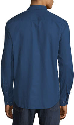 Bugatchi Shaped-Fit Rectangle-Grid Sport Shirt