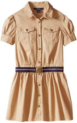 Polo Ralph Lauren Tissue Chino Shirtdress Girl's Dress