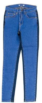 Sjyp Two Tone Mid-Rise Jeans