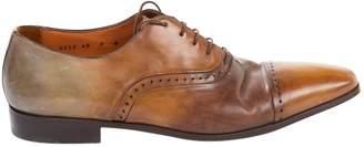 Santoni Brown Leather Smart