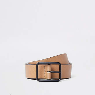 River Island Light brown tan leather belt