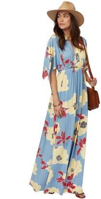 Long Caftan Dress Print - Bloom