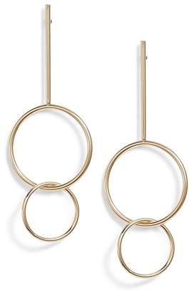 Halogen Orbit Ring Linear Earrings