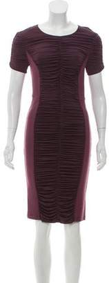 Burberry Ruched Knee-Length Dress