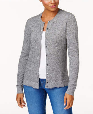 Karen Scott Petite Marled Cardigan, Created for Macy's