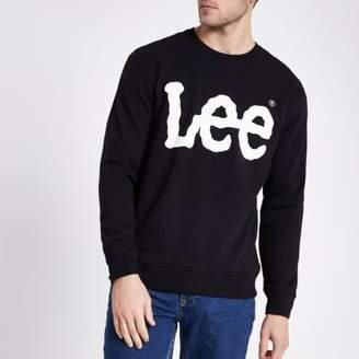 River Island Lee black logo print sweatshirt