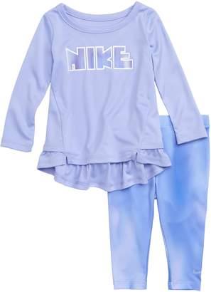 Nike Unicorn Dry Peplum Tee & Leggings Set