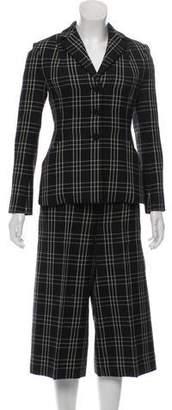 Christian Dior 2018 Virgin Wool Patterned Pantsuit