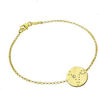 Yvonne Henderson Jewellery - Pisces Constellation Bracelet with White Sapphires Gold
