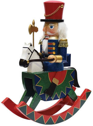 The Holiday Aisle Decorative Christmas Nutcracker Soldier on Rocking Horse
