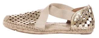 Tory Burch Patent Leather Round-Toe Espadrilles