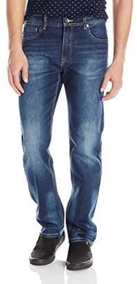 Southpole Men's Basic Flex Slim Straight Stretch Fit Washed Denim Pants Long