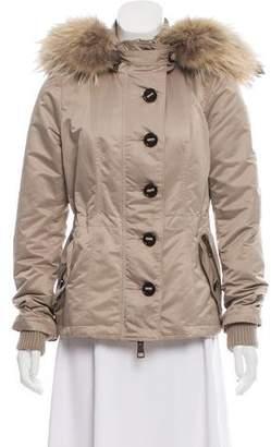 Burberry Fur-Trimmed Padded Jacket