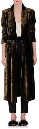 Blazé Milano Women's Chevron Velvet Blazer Dress - Gold Size 0