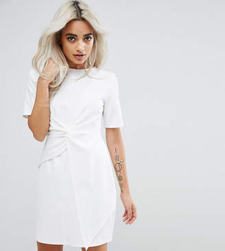 Asos Mini Skater Dress With Twist Front