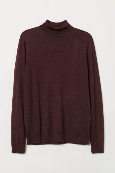 H&M - Merino Wool Turtleneck Sweater - Red