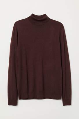 H&M Merino Wool Turtleneck Sweater - Red