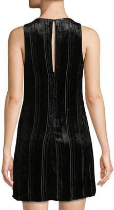 Astr Molly Striped Metallic Shift Dress