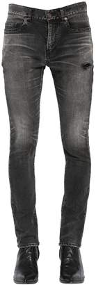 Saint Laurent 15cm Skinny Cotton Denim Jeans