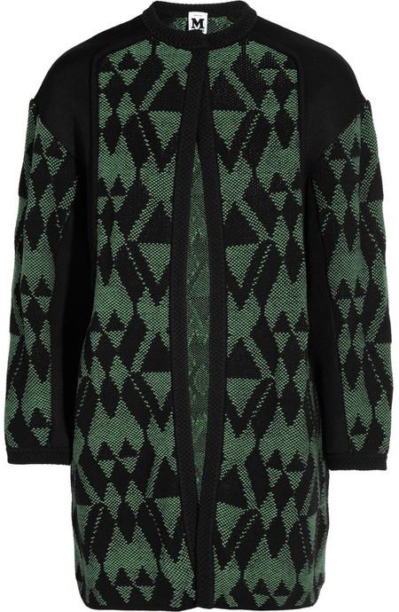 M Missoni Wool and cotton-blend jacquard cardi-coat