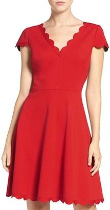 Betsey Johnson Bonded Knit Skater Dress $148 thestylecure.com