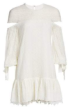 Jonathan Simkhai Women's Embroidered Silk Dress