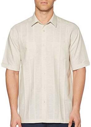 Cubavera Men's Short Sleeve Two Pocket Tuck Woven Shirt