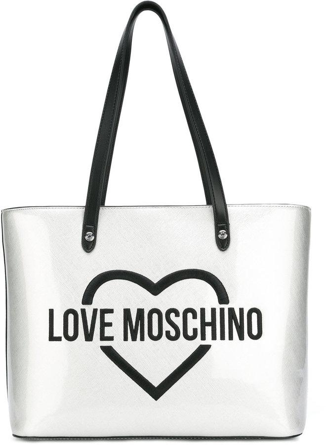 Love MoschinoLove Moschino logo print shoulder bag