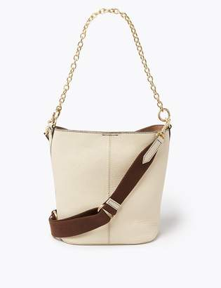 Marks and Spencer Leather Crossbody Bag with Removable Chain