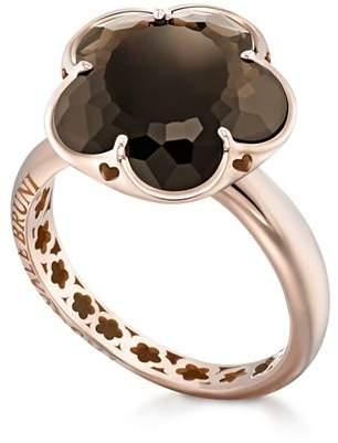 Pasquale Bruni 18K Rose Gold Floral Smoky Quartz Ring