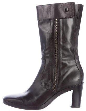 Balenciaga Balenciaga Leather Mid-Calf Boots