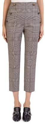 The Kooples Glen-Plaid Cropped Pants