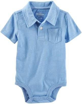 Osh Kosh Baby Boys' Short Sleeve Polo Bodysuit (6-9M, )